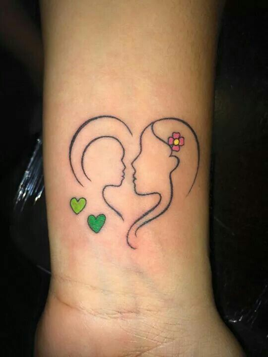 mother son tattoo i would change the color of the hearts to colors matching both of my. Black Bedroom Furniture Sets. Home Design Ideas