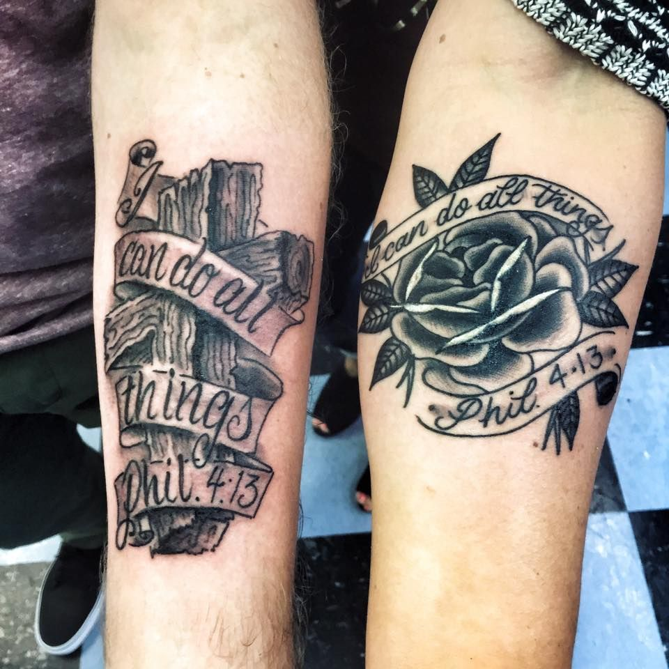 40 Philippians 4 13 Tattoo Designs For Men: I Can Do All Things Through Christ Who Strengthens Me