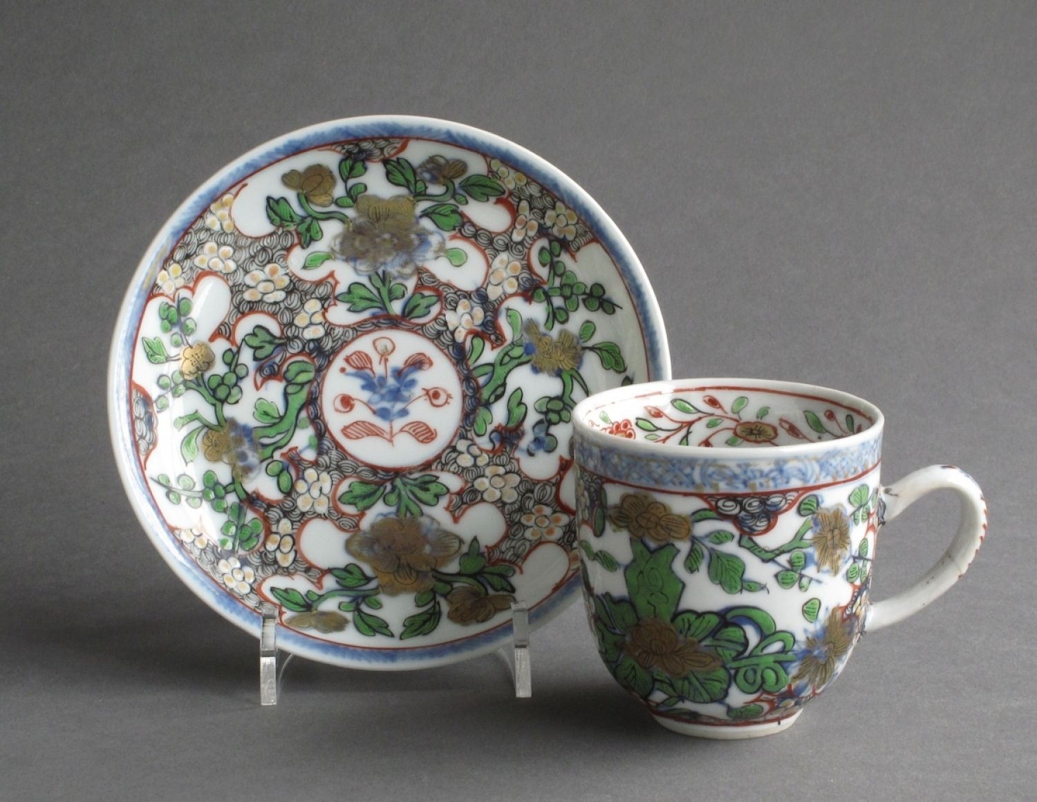Chinese Coffee Cup Saucer With London Decor In European Decorated Chinese Porcelain London Decor Saucer Decor