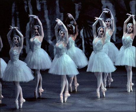 The corps de ballet in Peter Martins'Swan Lake Photo by Paul Kolnik