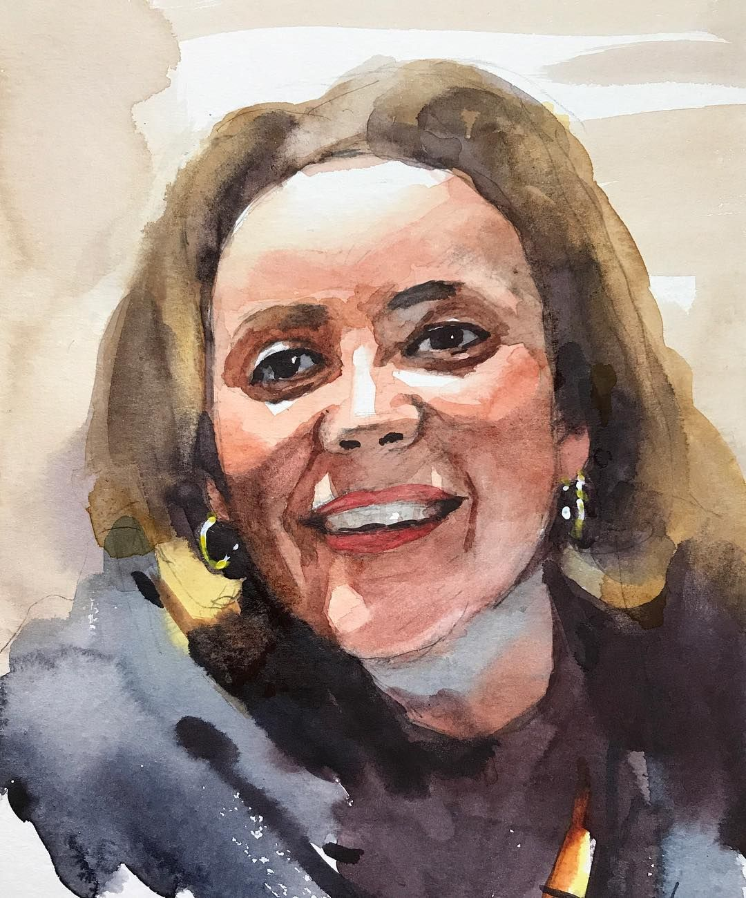 Watercolor Portrait Painting Lesson On Cansonwatercolorpaper