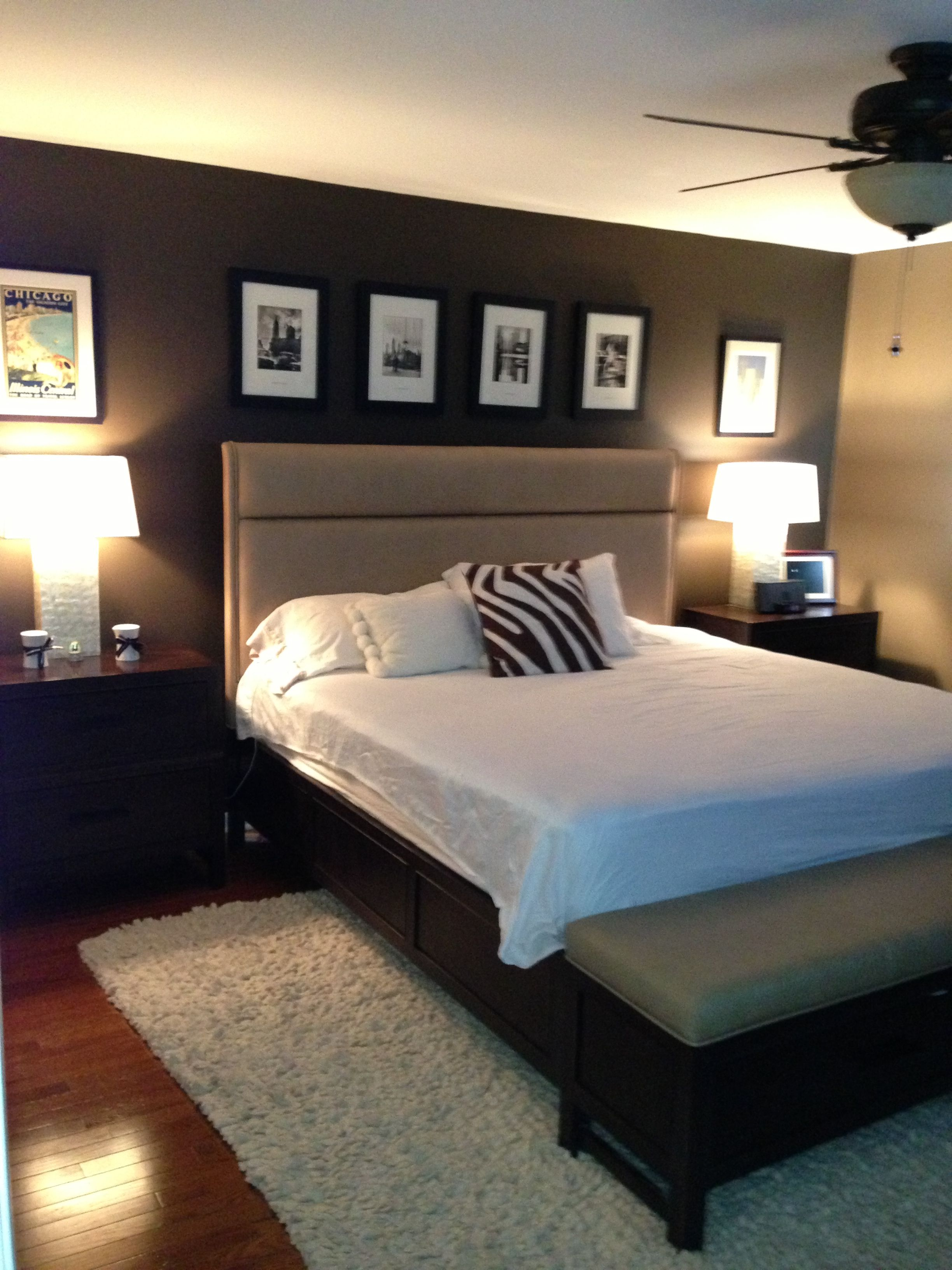 Espresso Feature Wall My Master Bedroom Best Bedroom Colors Master Bedroom Design Master Bedroom Colors