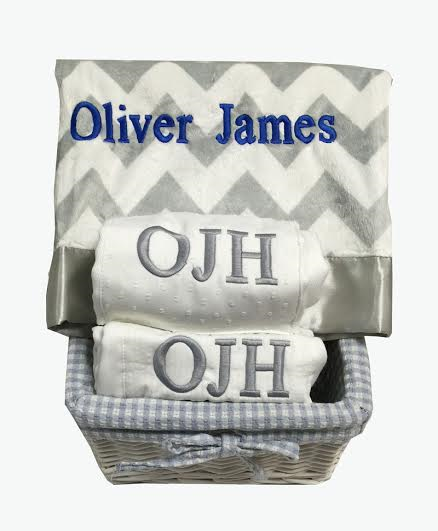 Namely newborns personalized baby gift basket cool gray baby namely newborns personalized baby gift basket cool gray baby blanket gender neutral baby negle Choice Image