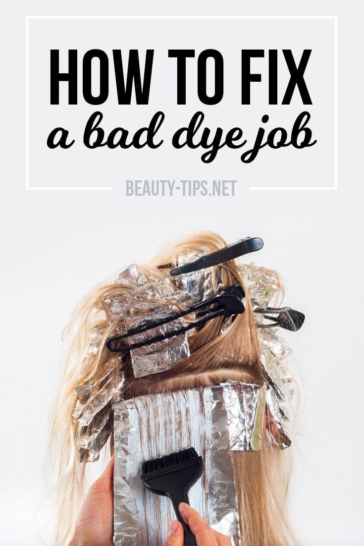How To Fix A Bad Hair Dye Job Dealing With Hair Coloring Problems When Hair Dye Goes Wrong Hair Job Grey Hair Dye