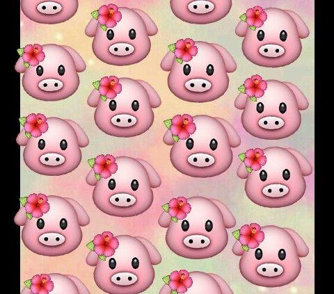 Tropical Pigs Wallpaper Emoji For Phone Pig Wallpaper Emoji Wallpaper Kawaii Wallpaper