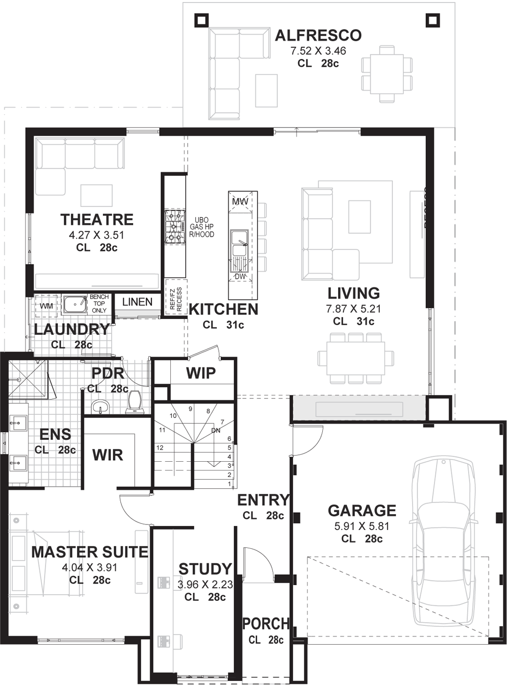 4 Bedroom House Plans & Home Designs Perth | Vision One ...