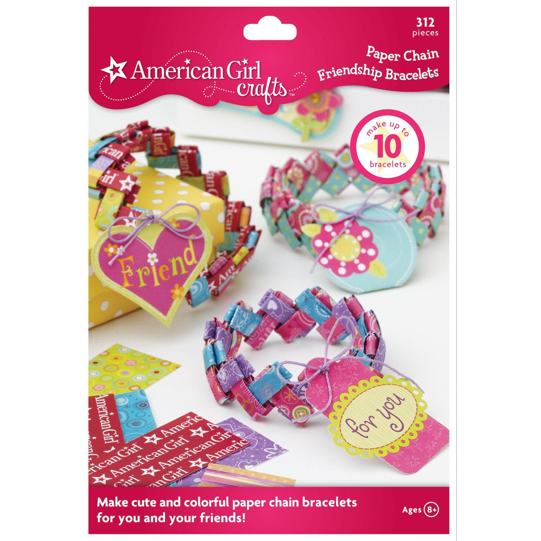 eb4b75053 American Girl Crafts Paper Chain Friendship Bracelet Kit | SC's 9th ...