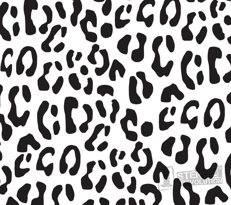Leopard Print Stencil Leopard Print Tattoos Stencils Wall Stencils