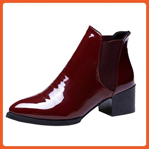 caa53c340eb55 Dear Time Motorcycle Ankle Boots Red US 7 - Boots for women (*Amazon ...