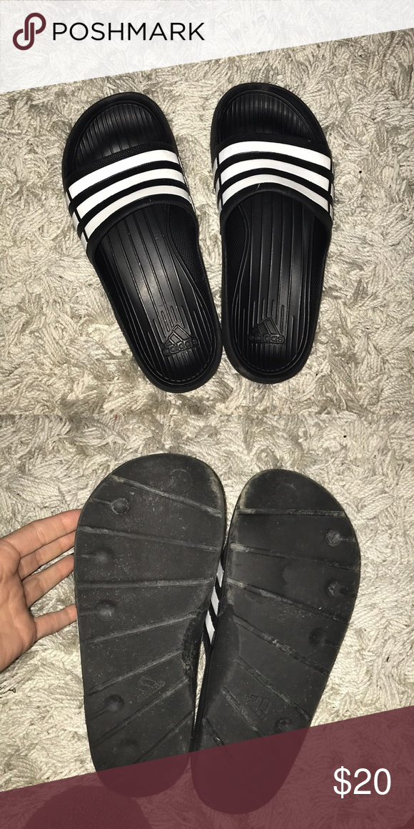 40fa4dd64 Men size 7 adidas slippers Rubber size 7 slippers adidas adidas Shoes  Sandals   Flip-Flops