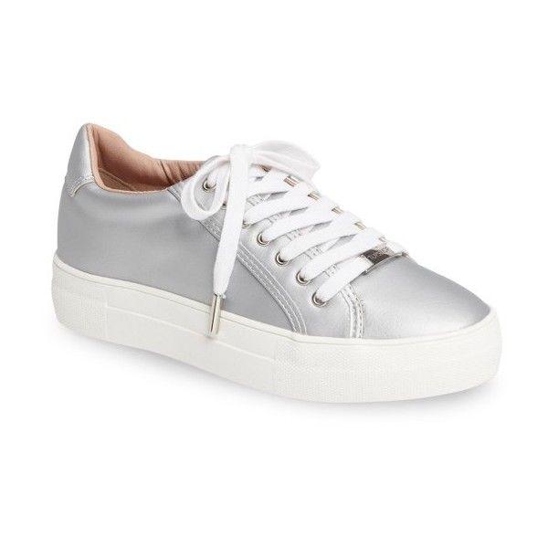 Topshop / Crystal Flatform Sneakers / Silver