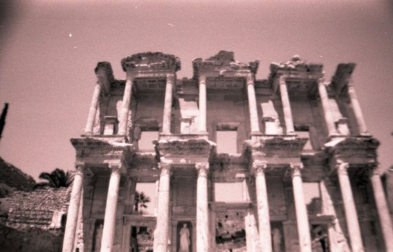 The Grand Library of Ephesus by 35mmVintagePhotos on Etsy