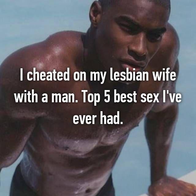 lesbians sex with men