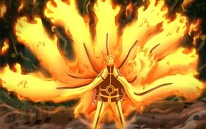 Wallpaper Kyuubi Mode Naruto Shippuden Game Anime Hokage Hero