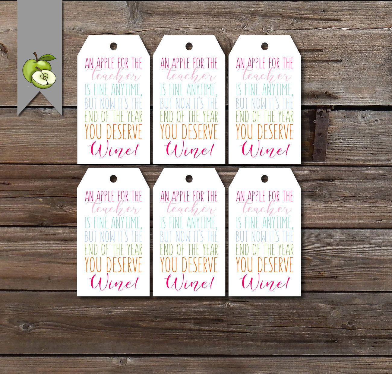 teacher wine gift tag, Funny quote for teacher wine, wine
