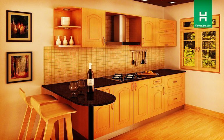 Marvelous Buy Heron Retro Parallel Kitchen (With Breakfast Counter) Online   HomeLane  India Part 14