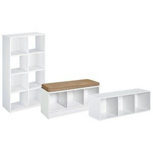 ClosetMaid Cubicals White Collection. Turn The 3x1 Into A Hanging Shelf  Above The Bench?