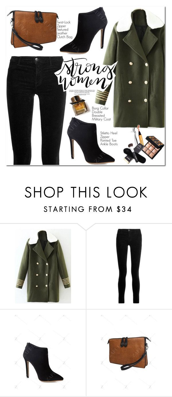 """Army Green"" by oshint ❤ liked on Polyvore featuring J Brand and Burberry"