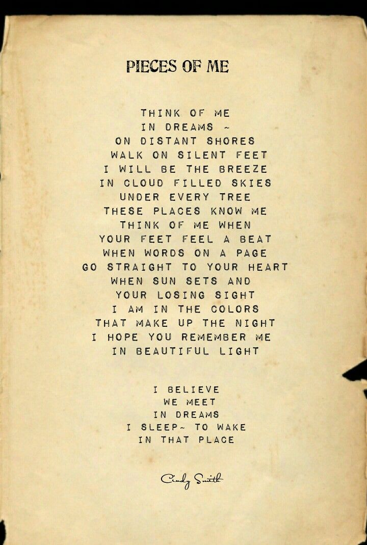 Pieces of Me Songtext