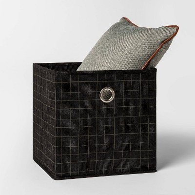 Fabric Cube Storage Bin Black 11 Room Essentials Cube Storage Storage Bins Cube Storage Bins