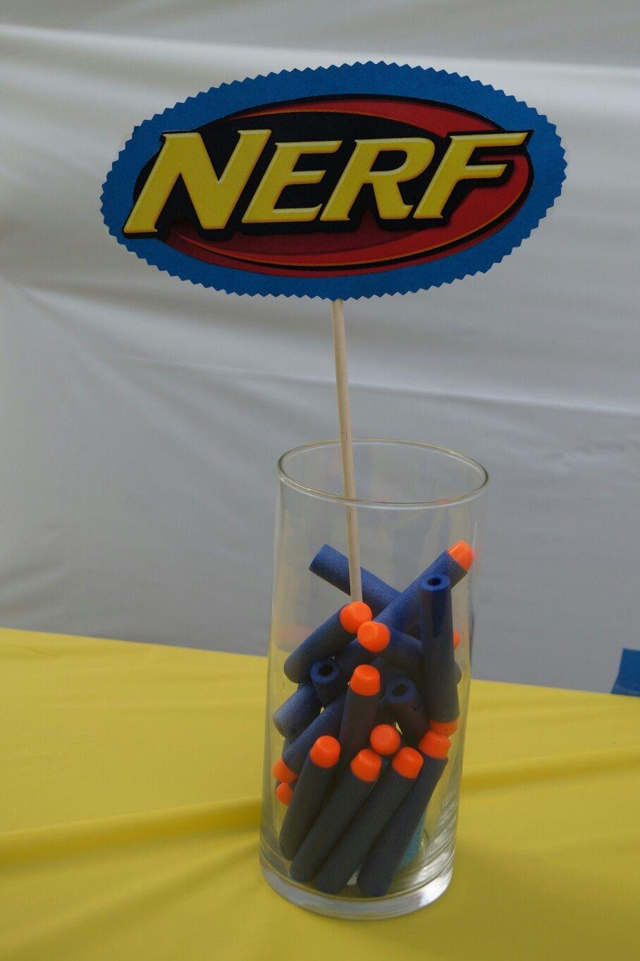 Nerf Centerpiece … Nerf birthday party, Nerf gun party