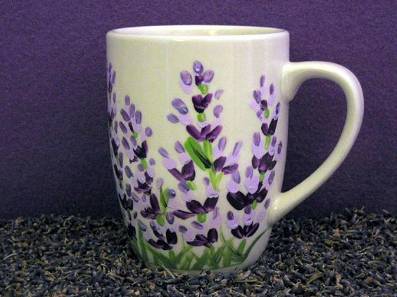 Painted Flowers Mug Painted Coffee Mugs Painted Mugs Pottery
