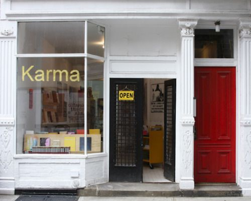 KARMA is a bookstore, gallery and publisher specializing in artist publications, located in the West Village of New York City, founded by Brendan Dugan in Spring of 2011.