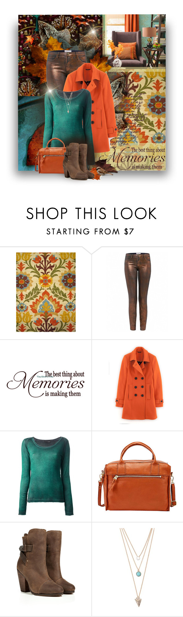 """""""The Best Memories"""" by eilselrenrag ❤ liked on Polyvore featuring Waverly, Current/Elliott, Boden, Avant Toi, FOSSIL, rag & bone and With Love From CA"""