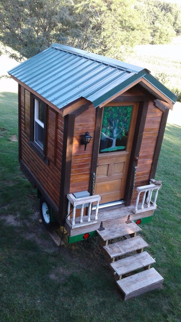 mike s hand built micro cabin for sale 9 5k tiny home living rh pinterest com