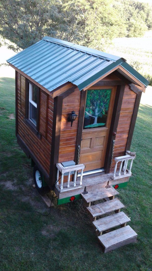 Mike S Diy Hand Built Micro House In Iowa Cheap Tiny House Micro House Diy Tiny House