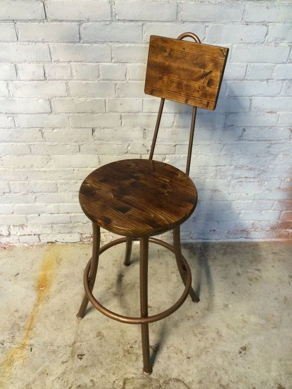 the pub commercial barstool country style wood iron counter bar rh pinterest com
