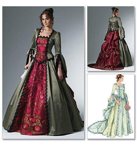 McCalls 6097 Kostüm Muster, viktorianischen Tournürenkleid Frauen ...