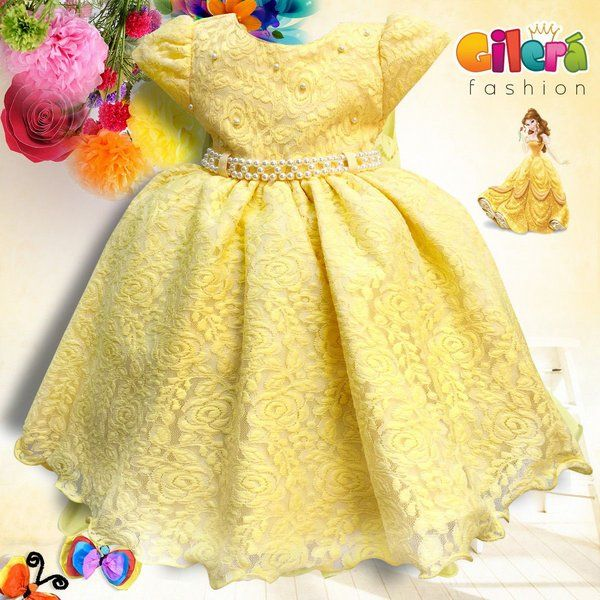 7c2443ecfb0 Vestido Infantil de Festa Luxo Tema A Bela e a Fera
