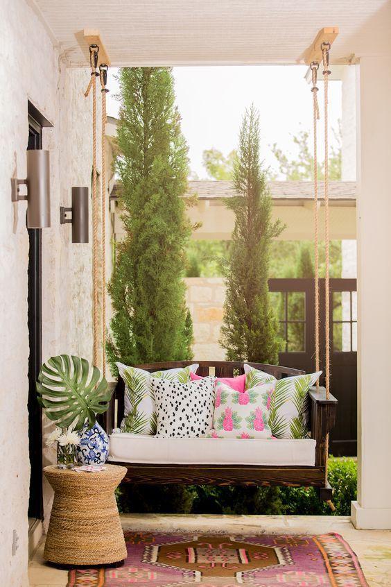 10 pretty little porches patios outdoor living pinterest rh pinterest com