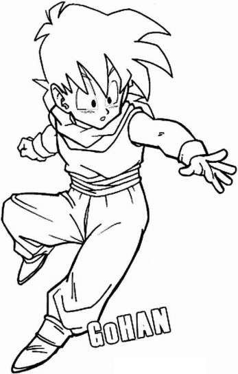 Dibujos De Dragon Ball Fotos Ideas Para Colorear Dibujo De Gohan