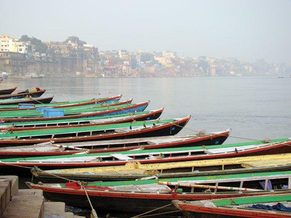 Ganges river boats