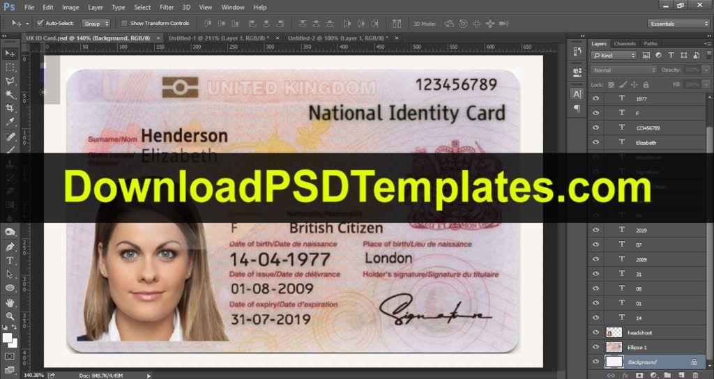 Social Security Card Template Ssn Editable Psd Software In 2020 Id Card Template Card Template Templates