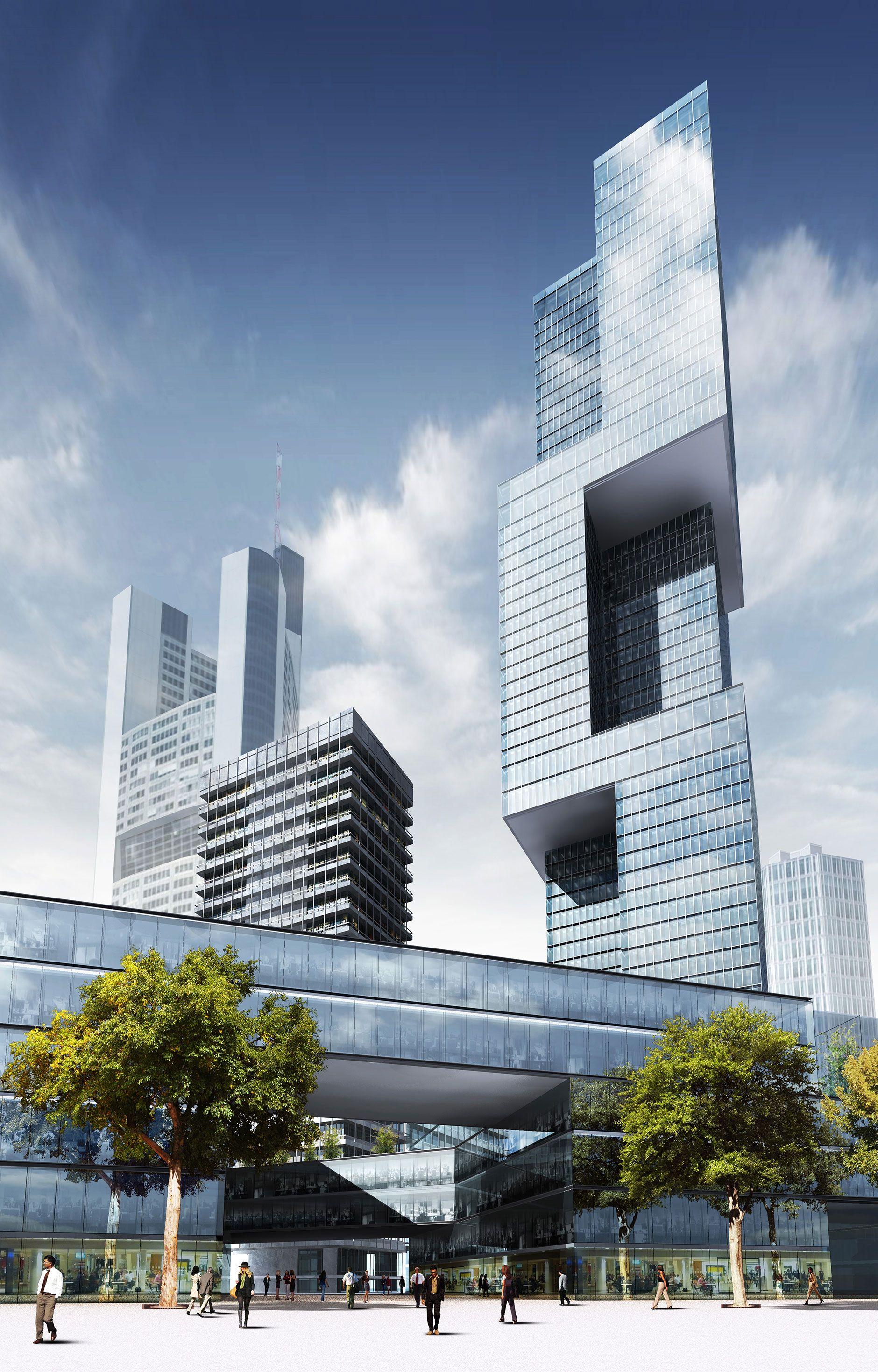 Skyscraper frankfurt highrise futuristische architektur architektur und frankfurt - Futuristische architektur ...