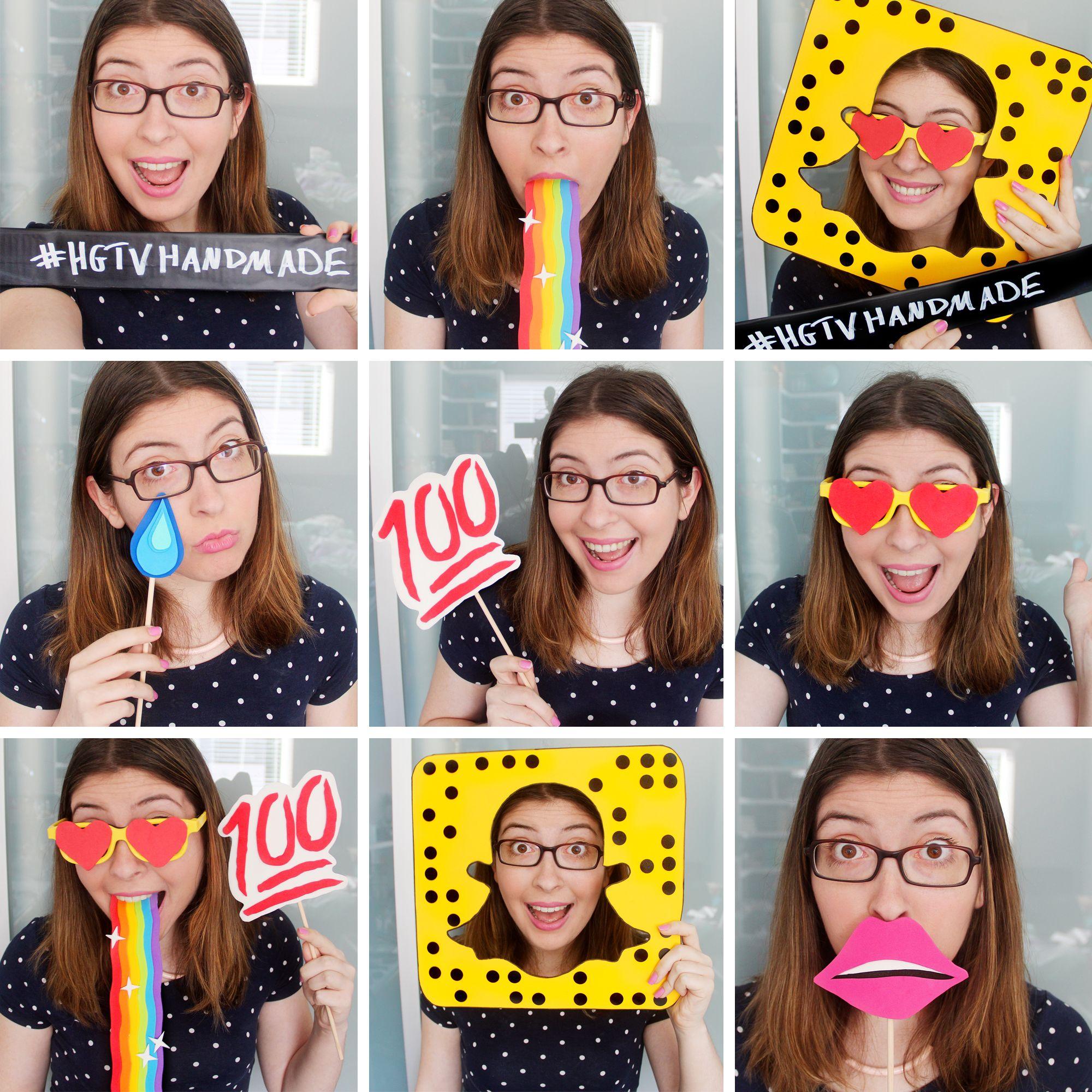 DIY Snapchat Inspired Photobooth Props Karen Kavett