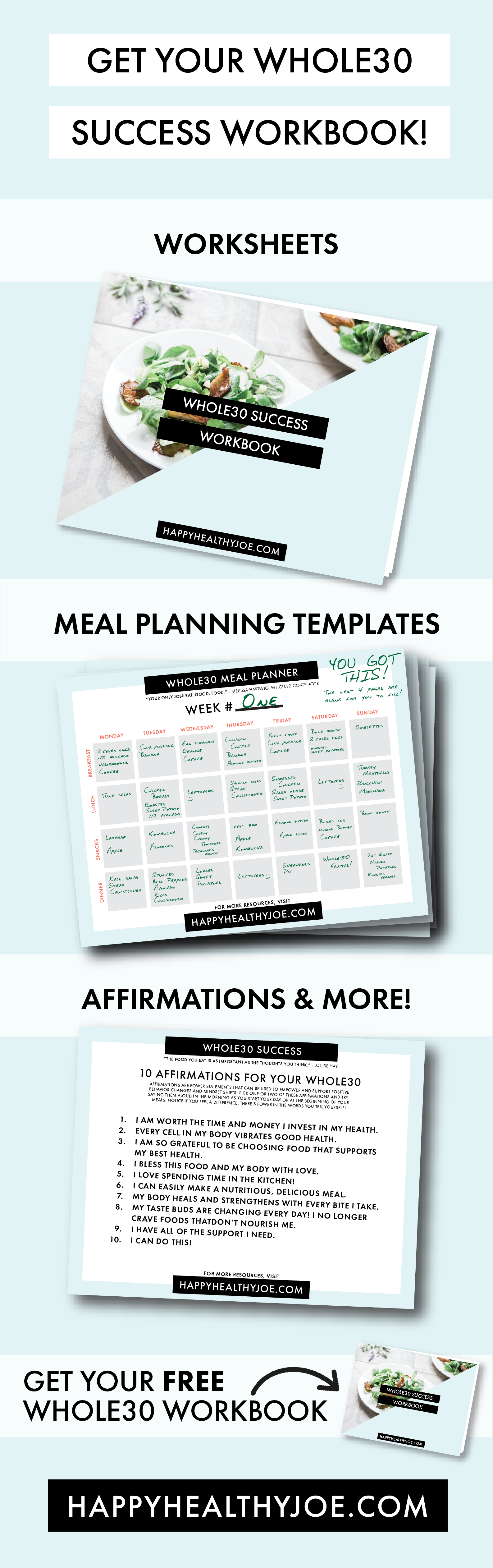 Set Yourself Up For Whole30 Success Free Printable Workbook