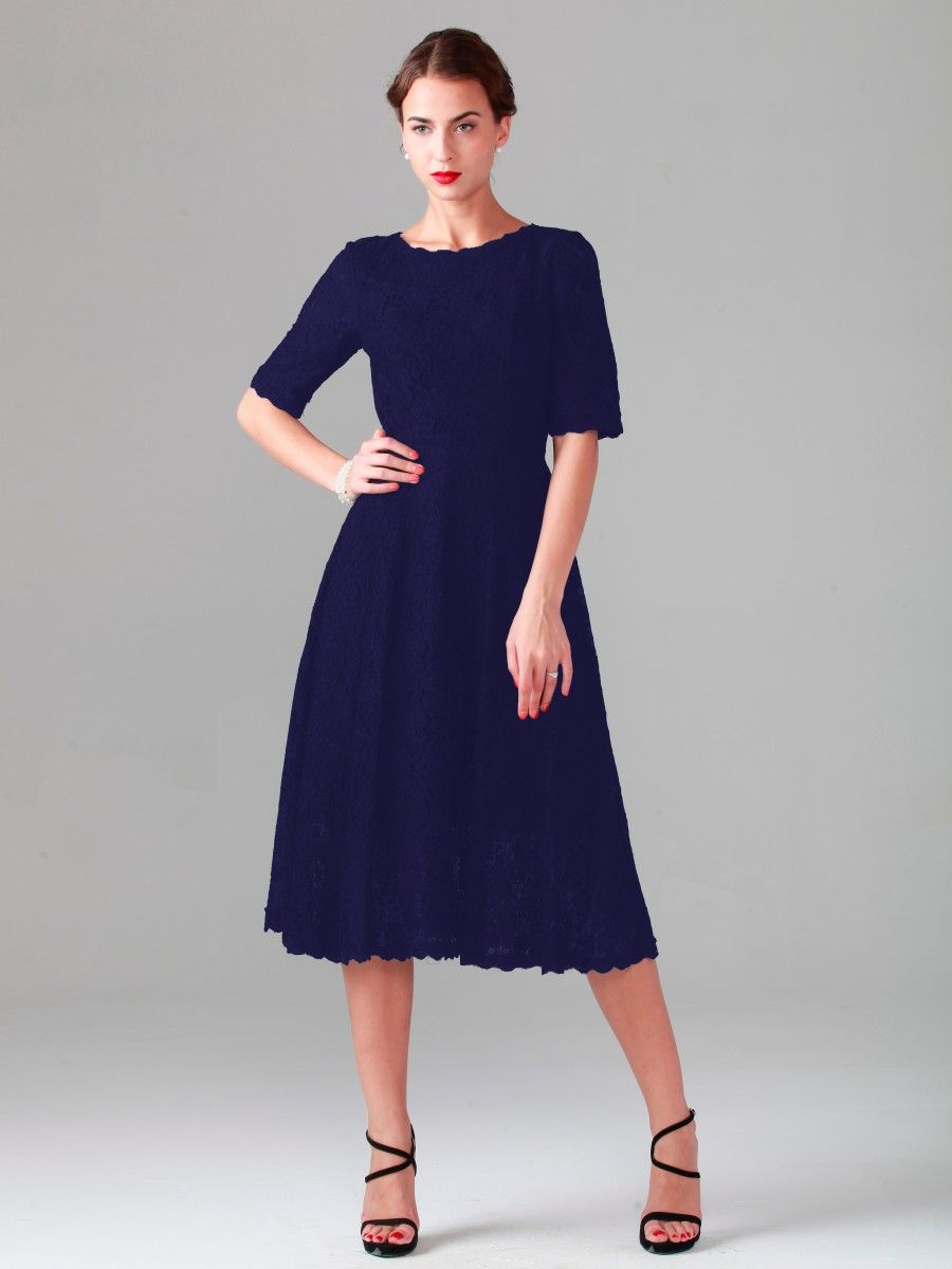 Elbow Sleeve Lace Dress | Plus and Petite sizes available! Hundreds ...
