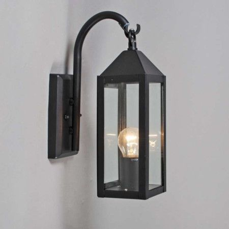 klassische au enleuchte aus schwarz lackiertem edelstahl laternen. Black Bedroom Furniture Sets. Home Design Ideas