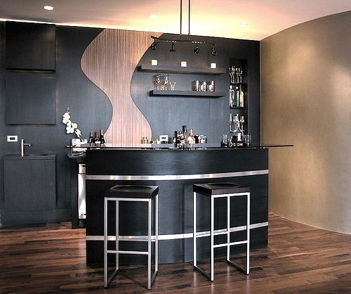 Modern Home Bar Design Ideas: Counter Modern Contemporary Home Bar Furniture