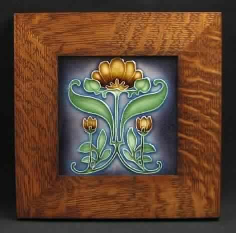 Decorative Tile Frames Arts And Craftsman  Framed Porteous Tiles  Tiles  Pinterest