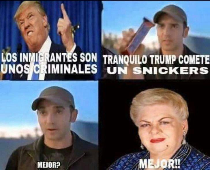 Donald Trump Funny Memes In Spanish : Donald trump snickers paquita la del barrio jajajaja xd
