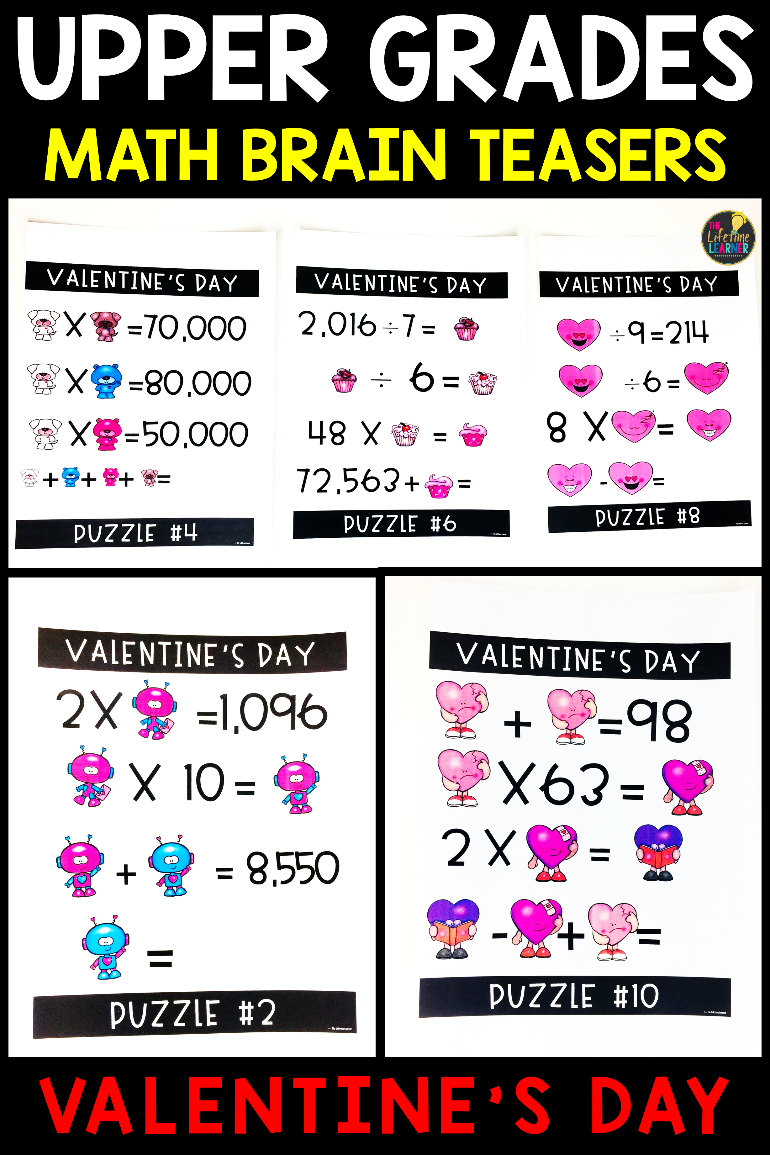 Upper Grades Valentine S Day Brain Teasers