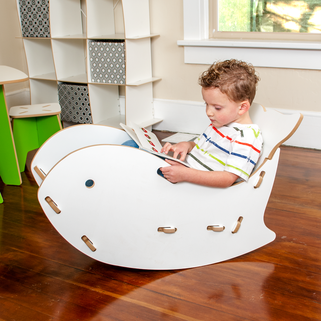 kids hanging chair for bedroom%0A Click now for more super cute kids furniture  Adorable little girl reading  in a Grey Whale Kids Rocking Chair by Sprout Kid Furniture