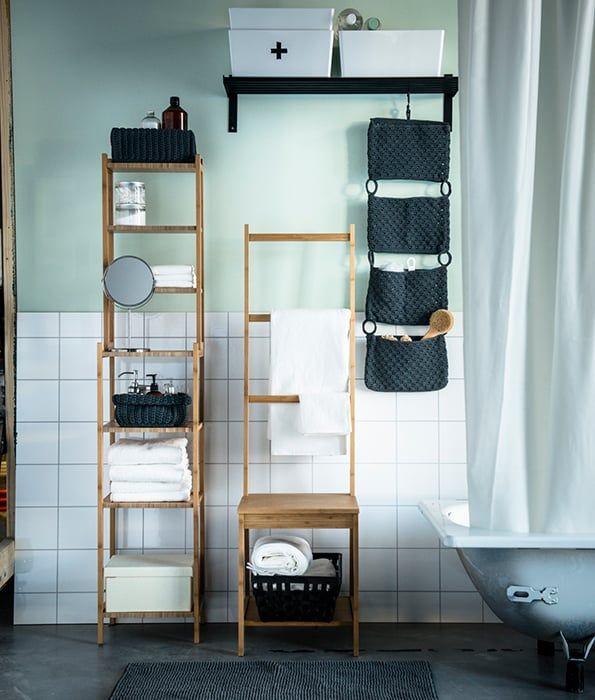 RÅGRUND Stellingkast, bamboe | Interiors