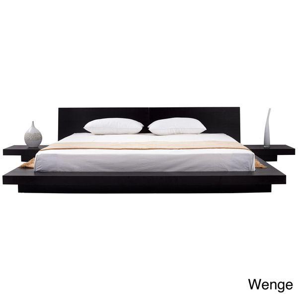 Matisse Fujian 3-piece Queen-size Platform Bedroom Set (Espresso