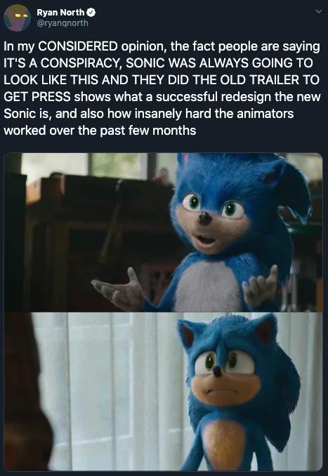 New Sonic Movie Trailer Memes Sonic Hedgehog Movie Memes